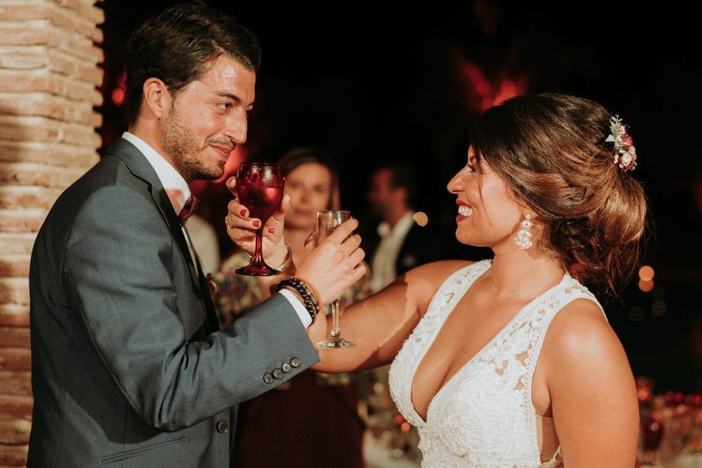 Burgundy , Gold Wedding in Marrakech